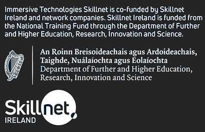 Screen Skillnet is co-funded by Skillnet Ireland and network companies. Skillnet Ireland is funded from the National Training Fund through the Department of Further and Higher Education, Research, Innovation and Science.